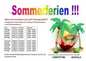 TrainingSommerferien